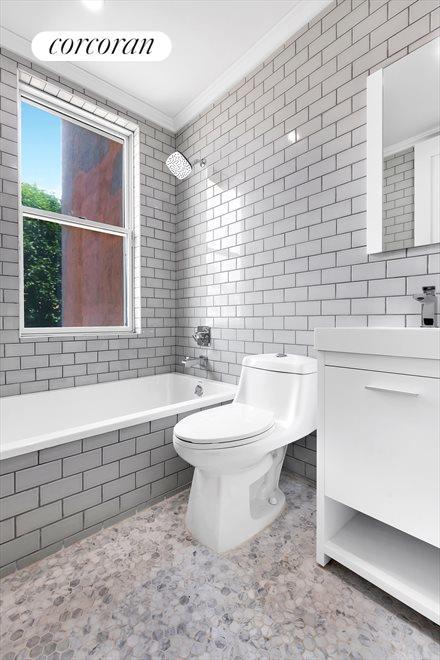 Carrera Marble & Subway Tiled Bathroom