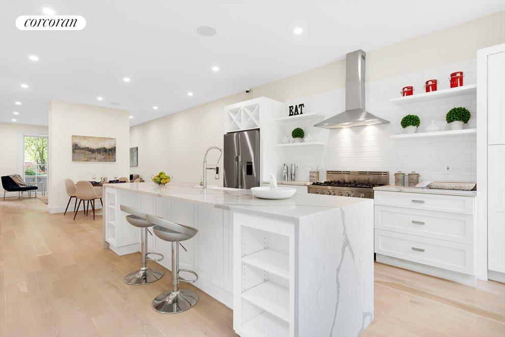 Open Kitchen ft. 10' Carrera Marble Island