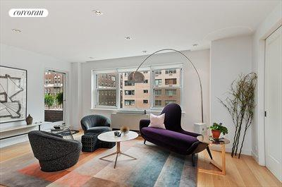 New York City Real Estate | View 20 Sutton Place South, #11B | Living Room - Spacious and bright. Terrace access