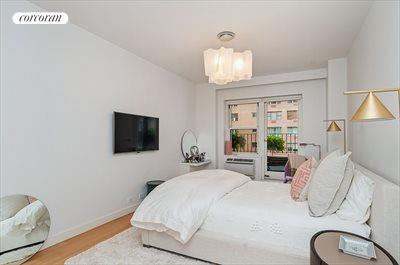 New York City Real Estate | View 20 Sutton Place South, #11B | Master Bedroom - direct access to Terrace