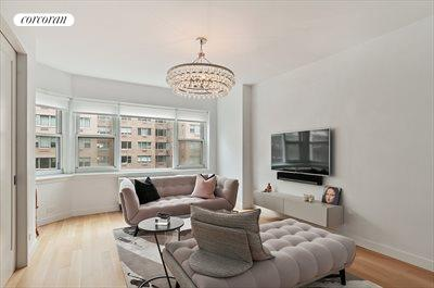 New York City Real Estate | View 20 Sutton Place South, #11B | Second Bedroom / Den - beautiful wall of windows