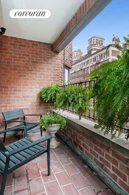 New York City Real Estate | View 20 Sutton Place South, #11B | Terrace - East Facing with partial river views