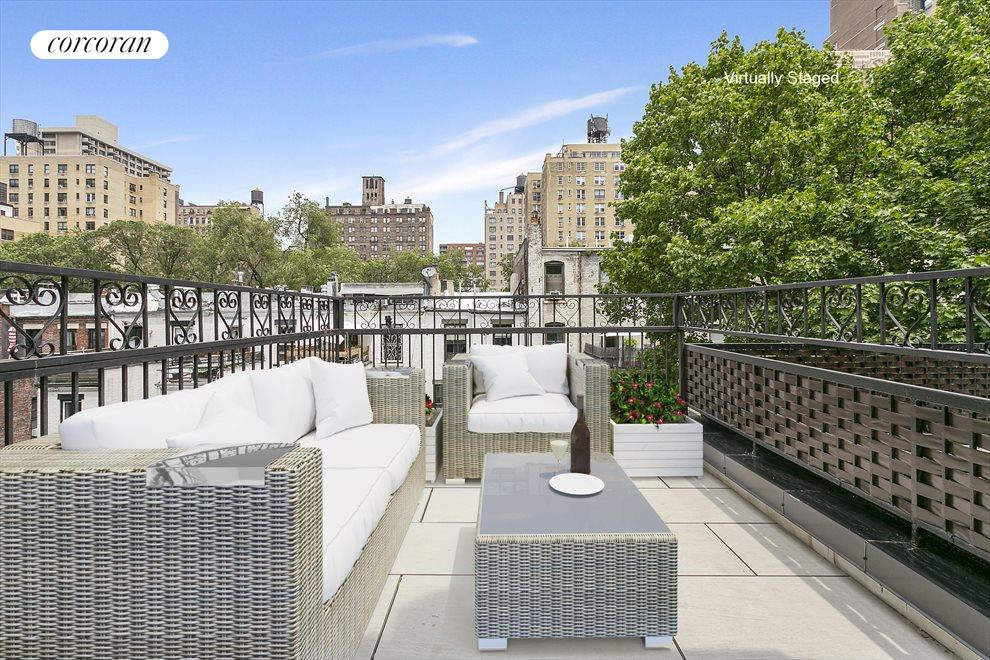 Private Terrace Virtually Staged