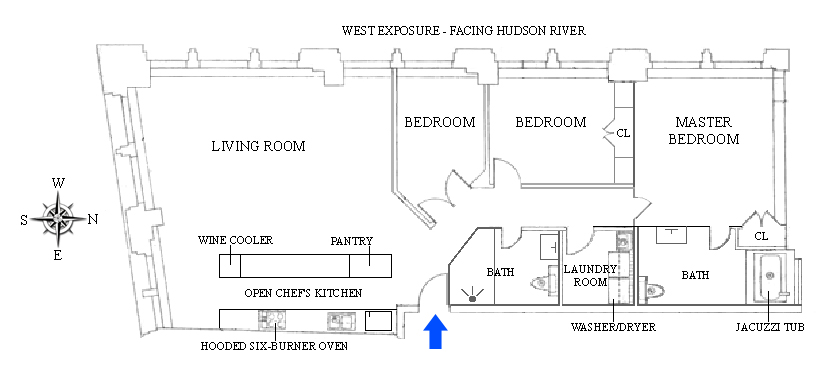 Floor plan of LIBERTY TOWER, 55 Liberty Street, 28C - Financial District, New York