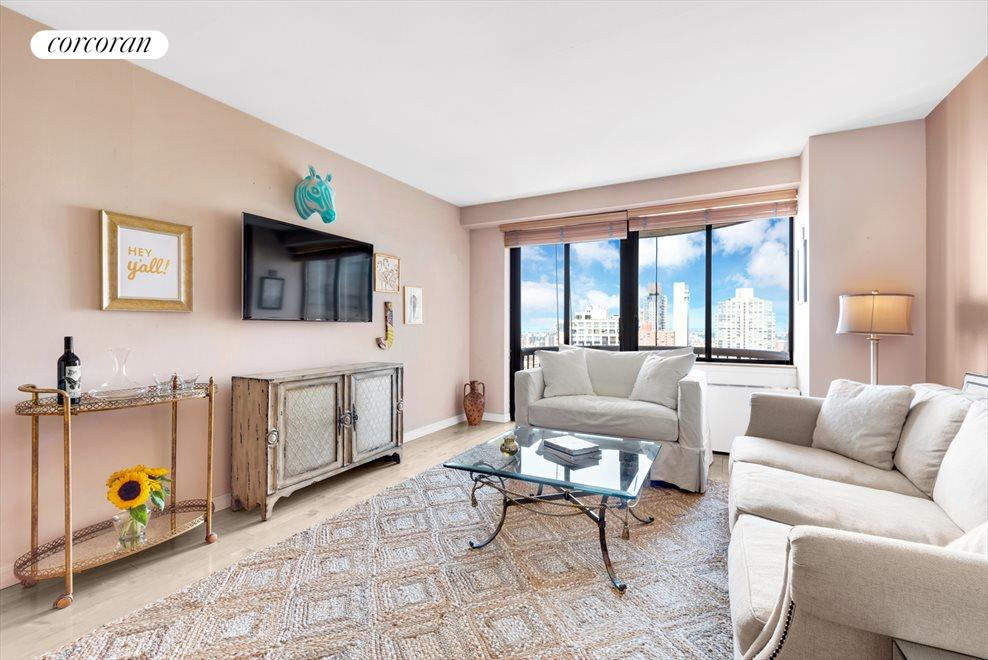 LARGE LIVING ROOM WITH PRIVATE BALCONY!