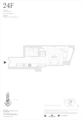 New York City Real Estate | View 11 Hoyt Street, #24F | Floorplan
