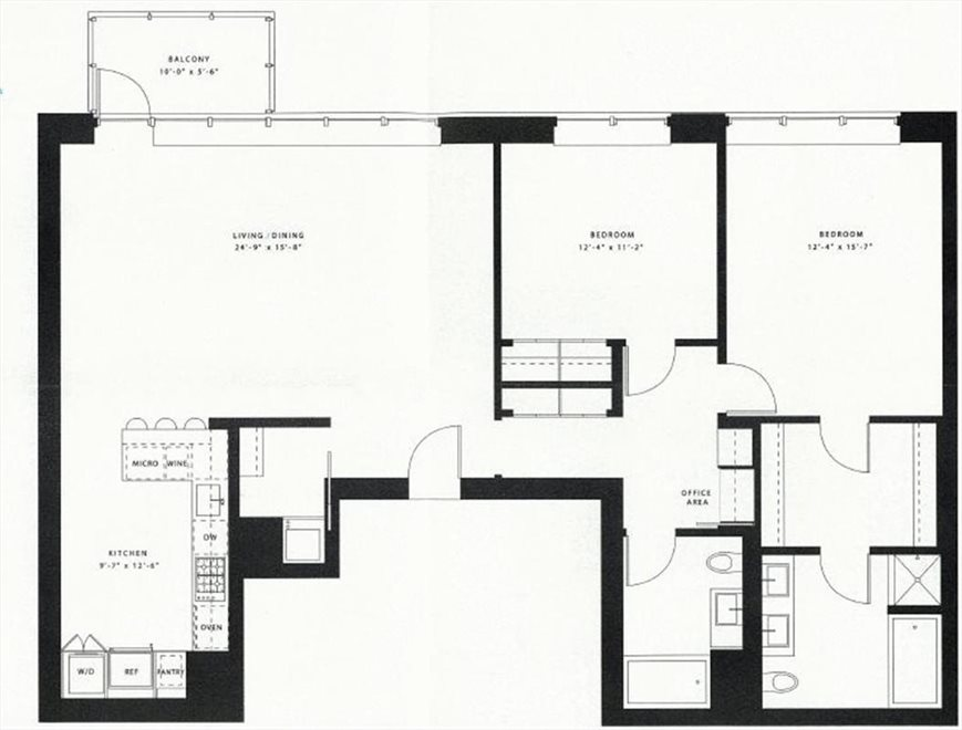 New York City Real Estate | View 48 Bond Street, #7B | Floorplan