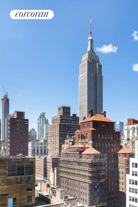 VIEW OF THE ESB FROM THE TERRACE AND BEDROOM