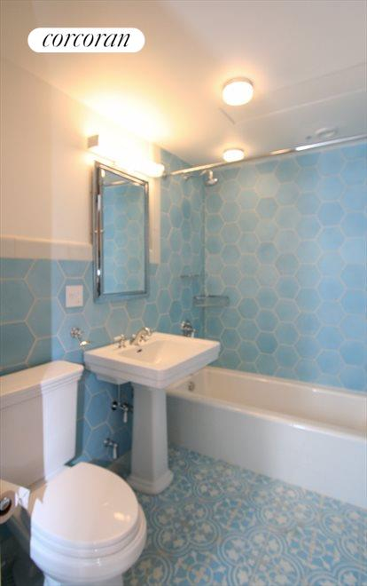 Bathroom with Moroccan tile