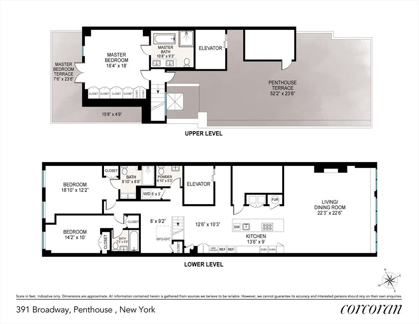 New York City Real Estate | View 391 Broadway, #Penthouse | Floorplan
