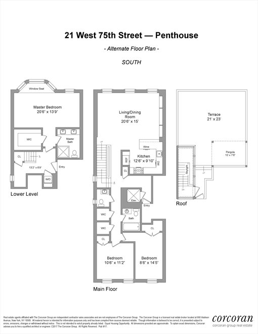 New York City Real Estate | View 21 West 75th Street, #PH | Floorplan 2
