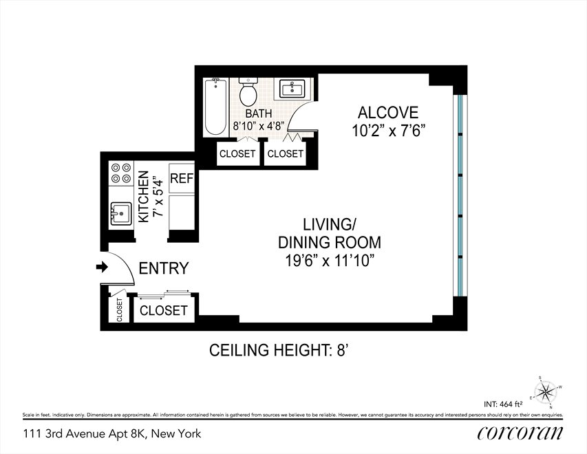 New York City Real Estate | View 111 Third Avenue, #8K | Floorplan
