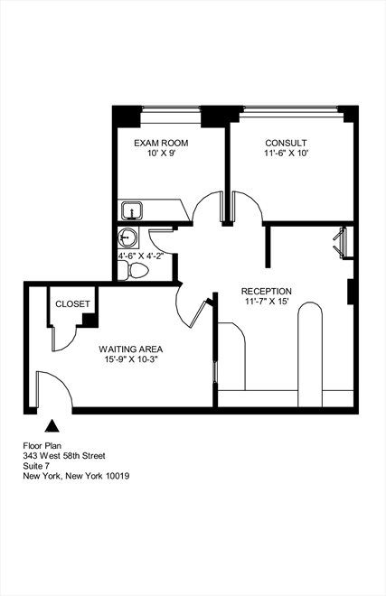 New York City Real Estate | View 345 West 58th Street | Floorplan