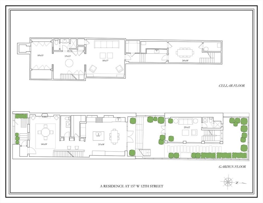 New York City Real Estate | View 157 West 12th Street | Floorplan 2