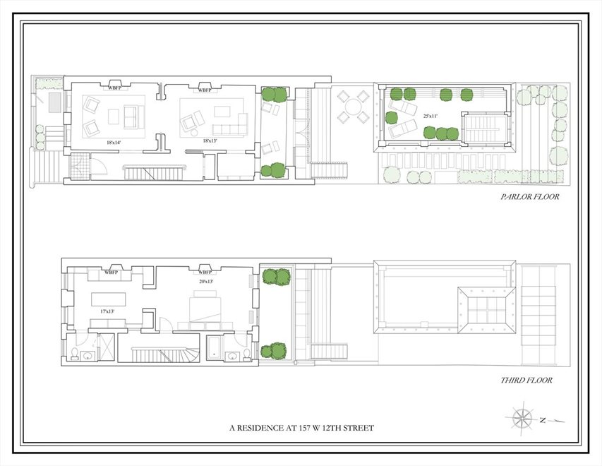 New York City Real Estate | View 157 West 12th Street | Floorplan 3