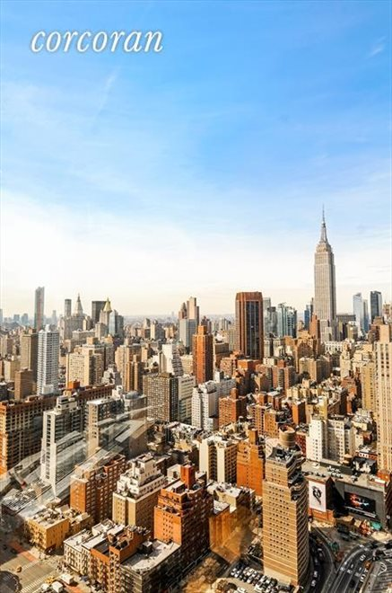 New York City Real Estate | View 330 East 38th Street, #43D | Spectacular Panoramic West view Living room