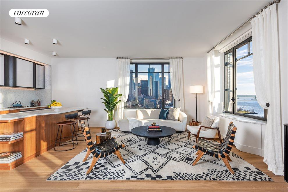 Triple Exposure Living Room