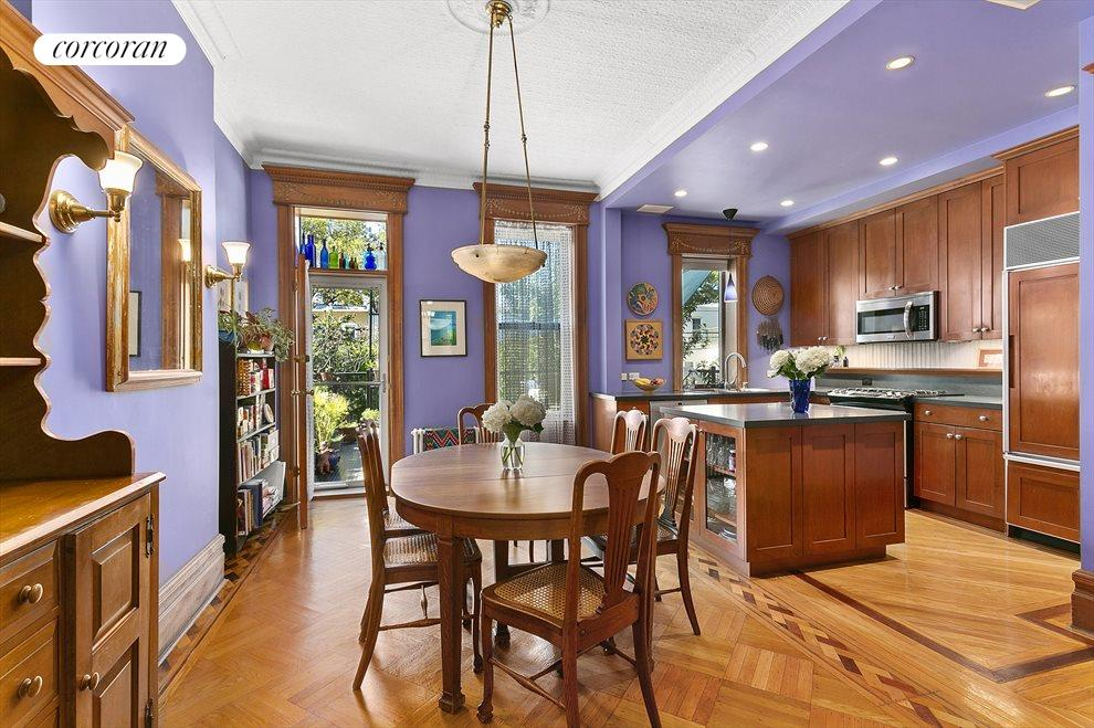 Expansive eat-in kitchen with storage galore.
