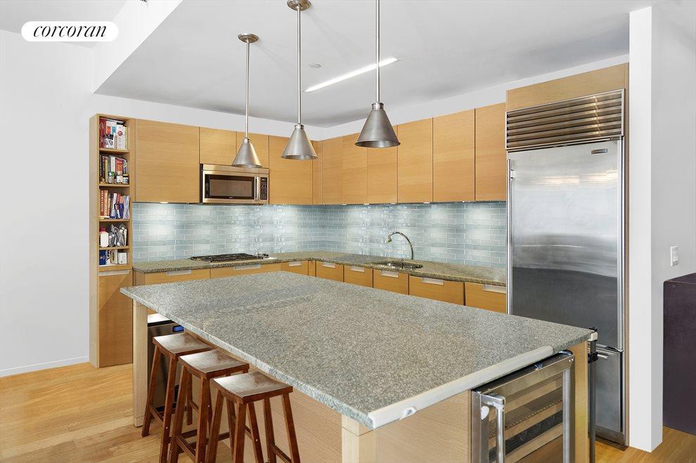 open updated kitchen