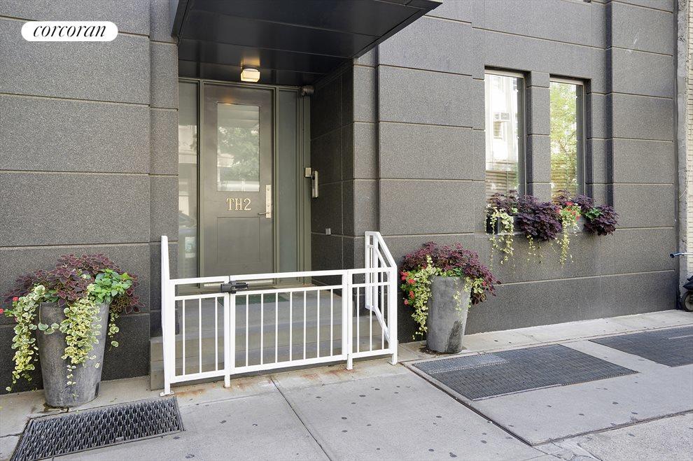 Private entrance to duplex