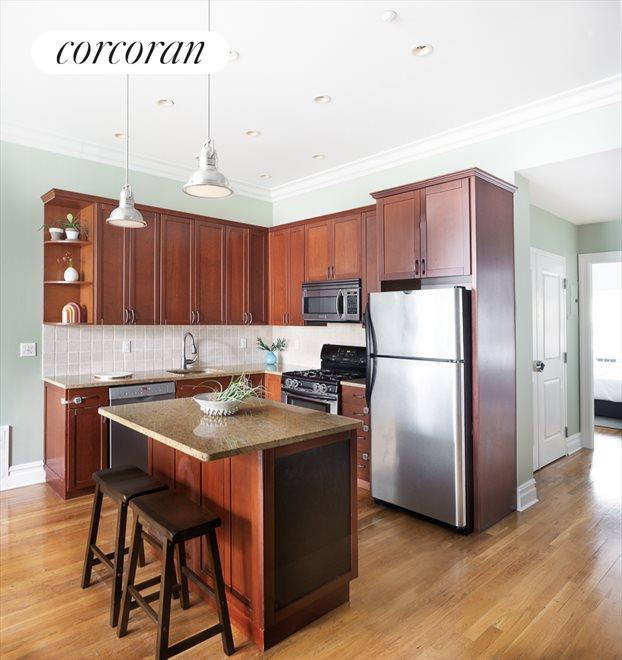 New York City Real Estate | View 207 22nd Street, #2A | Kitchen and Breakfast Bar