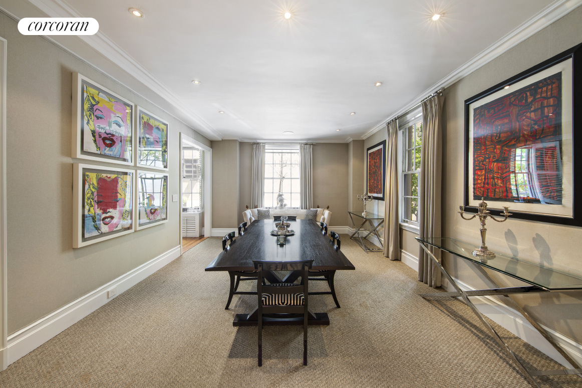655 Park Avenue, 2B, Sophisticated LR with wood-burning fire place