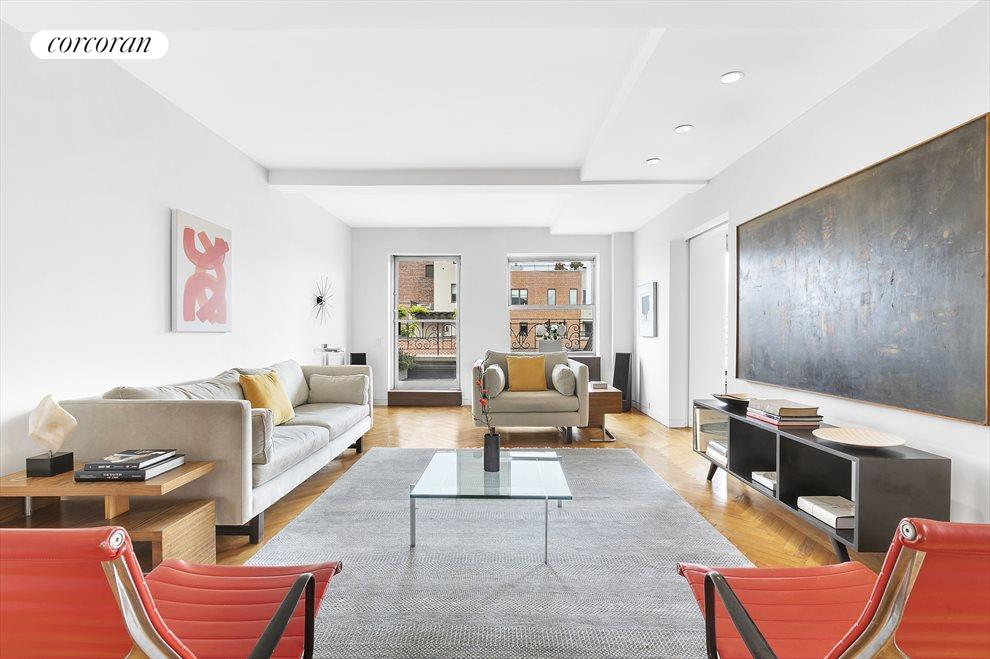 Expansive living area leading to terrace