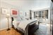 225 East 57th Street, 7G, Master bedroom with a sitting area by the window