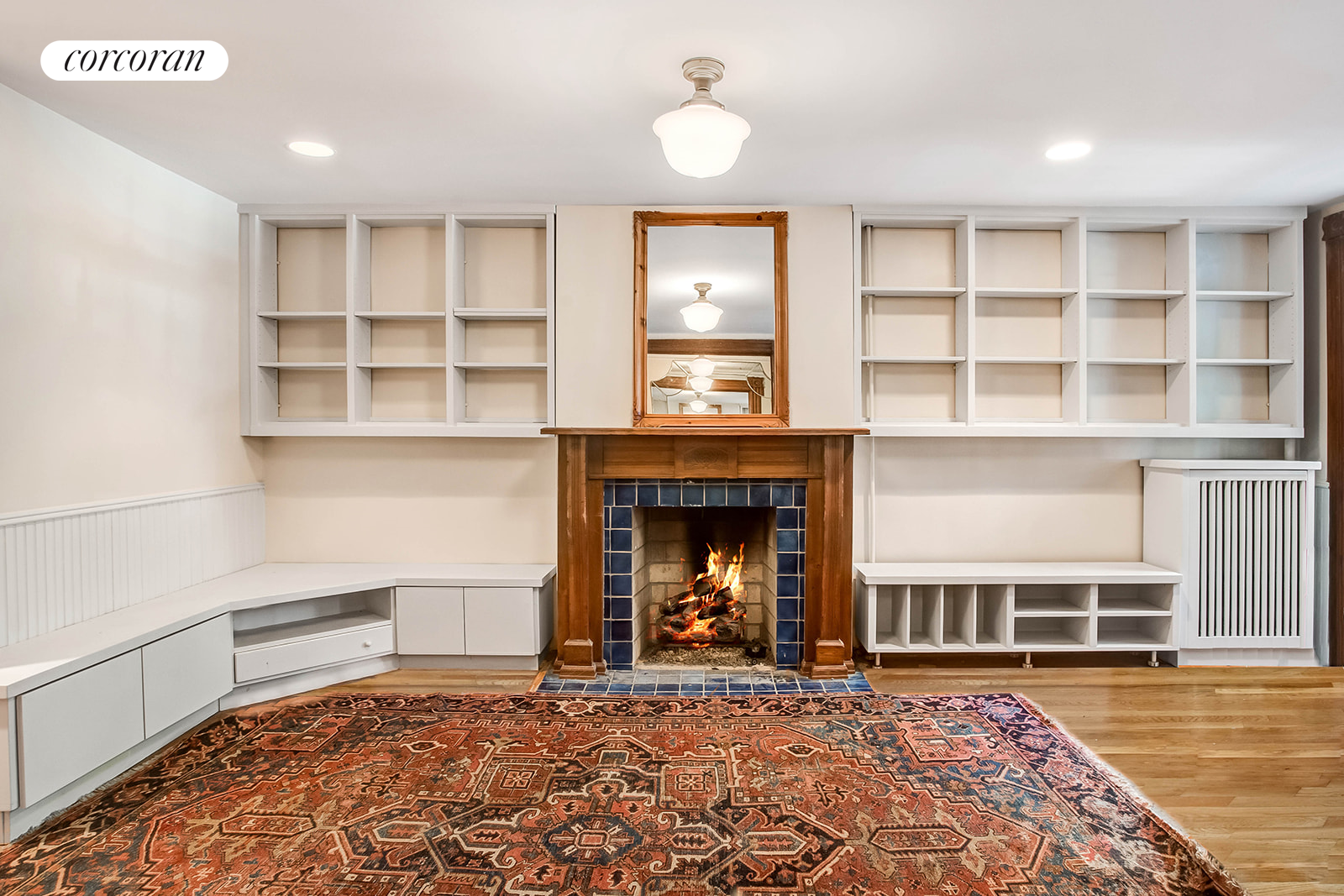 350 1st Street, Stunning parlor has high ceilings & gas fireplace