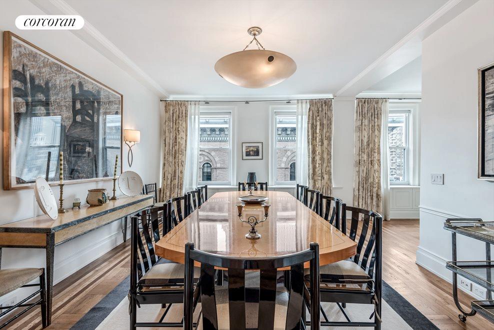 Windowed Dining Room Easily Seats 10