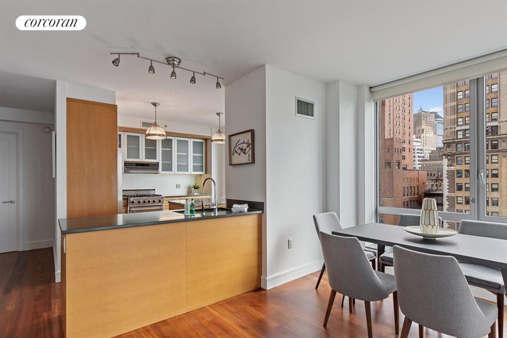 New York City Real Estate | View 30 West Street, #27E | Kitchen / Dining Room