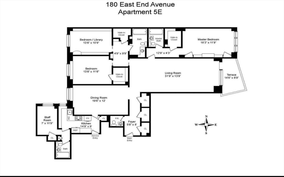 New York City Real Estate | View East End Avenue | Floorplan