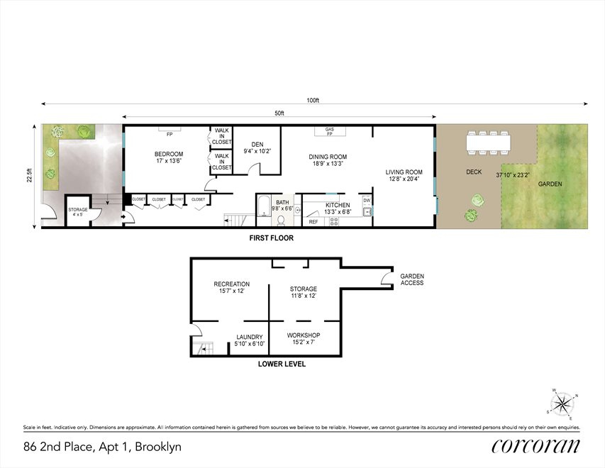 New York City Real Estate | View 86 2nd Place, #1 | Floorplan