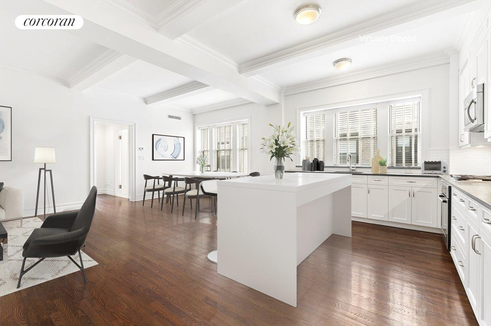 Open Loft Concept.Note: Island is virtually staged