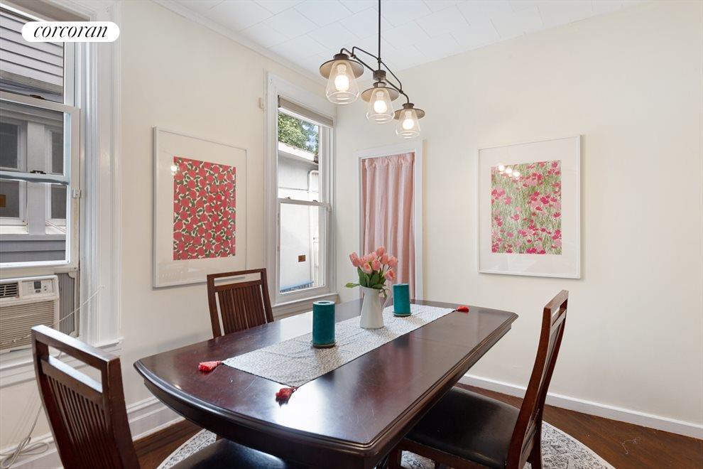 Windowed formal dining room