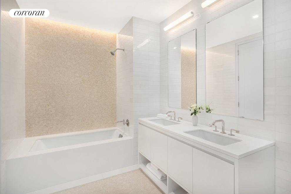 Second Bathroom With Dual Sinks