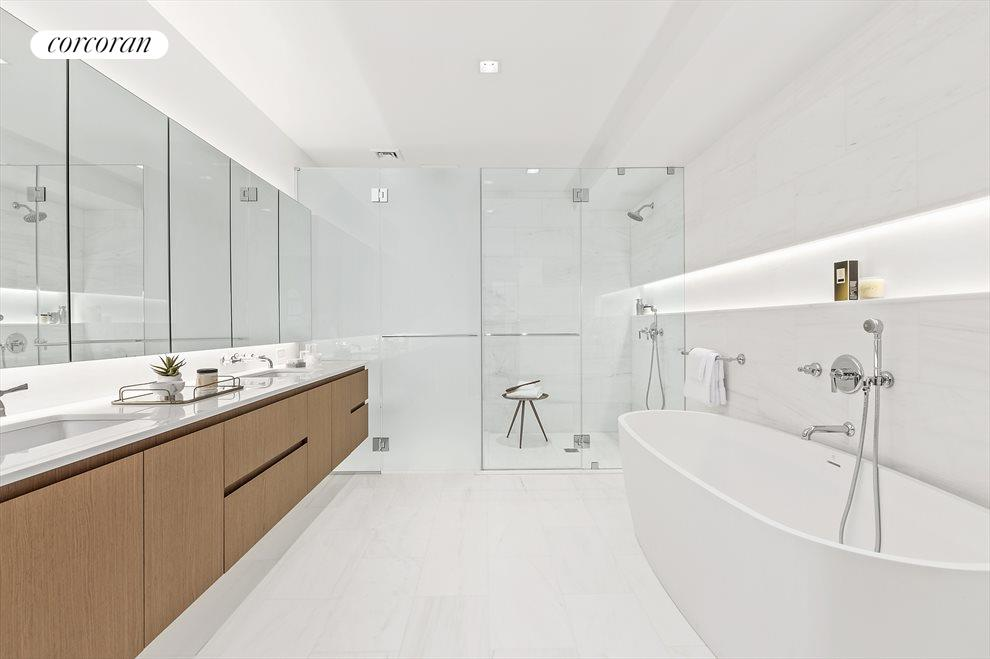 Sumptuous Master Bathroom with 9' double vanity