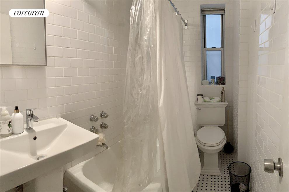 Clean and renovated bathroom