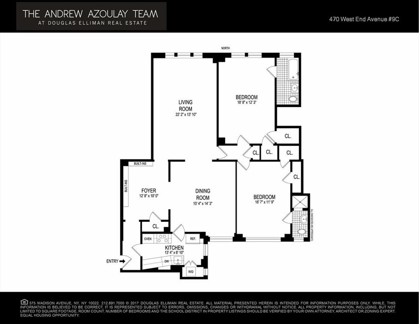 New York City Real Estate | View West End Avenue | Floorplan 3