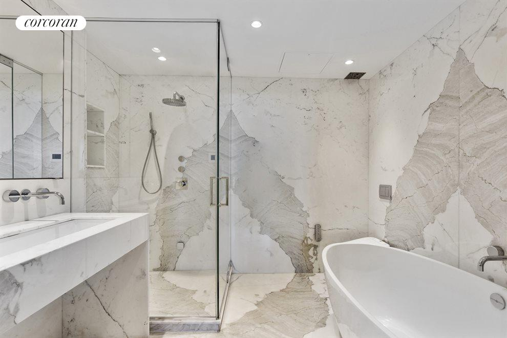 Gorgeous Master Bath with glass enclosed shower