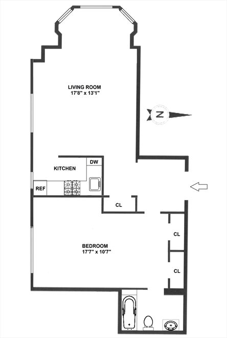 New York City Real Estate | View 2109 Broadway, #3-157 | Floorplan