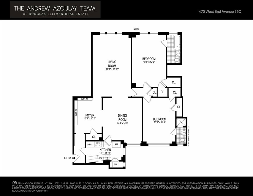 New York City Real Estate | View West End Avenue | Floorplan 1