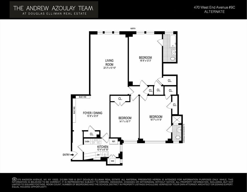 New York City Real Estate | View West End Avenue | Floorplan 2