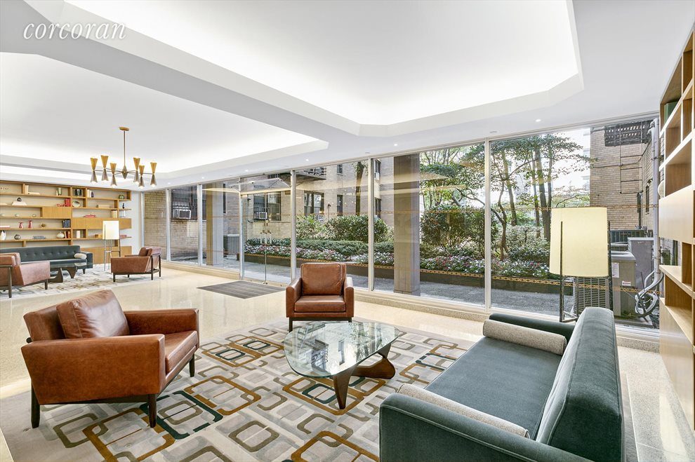 Lafayette Apartment Building | View 30 East 9th Street | Expansive Lobby overlooking garden!