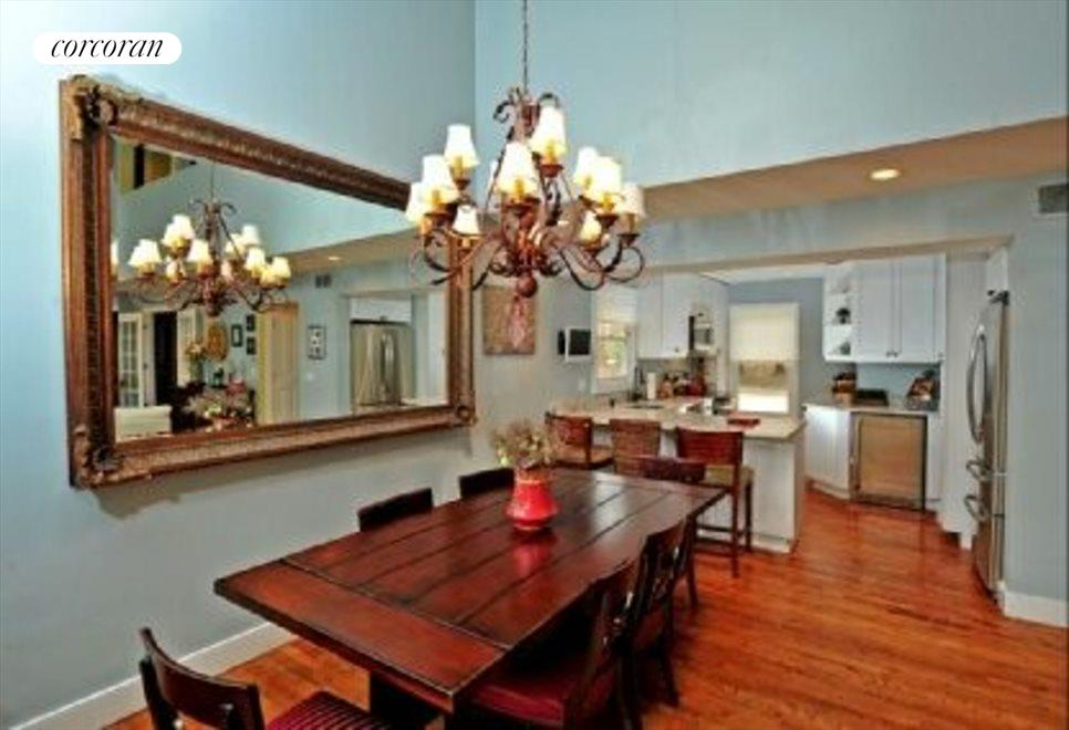 Ample dining area