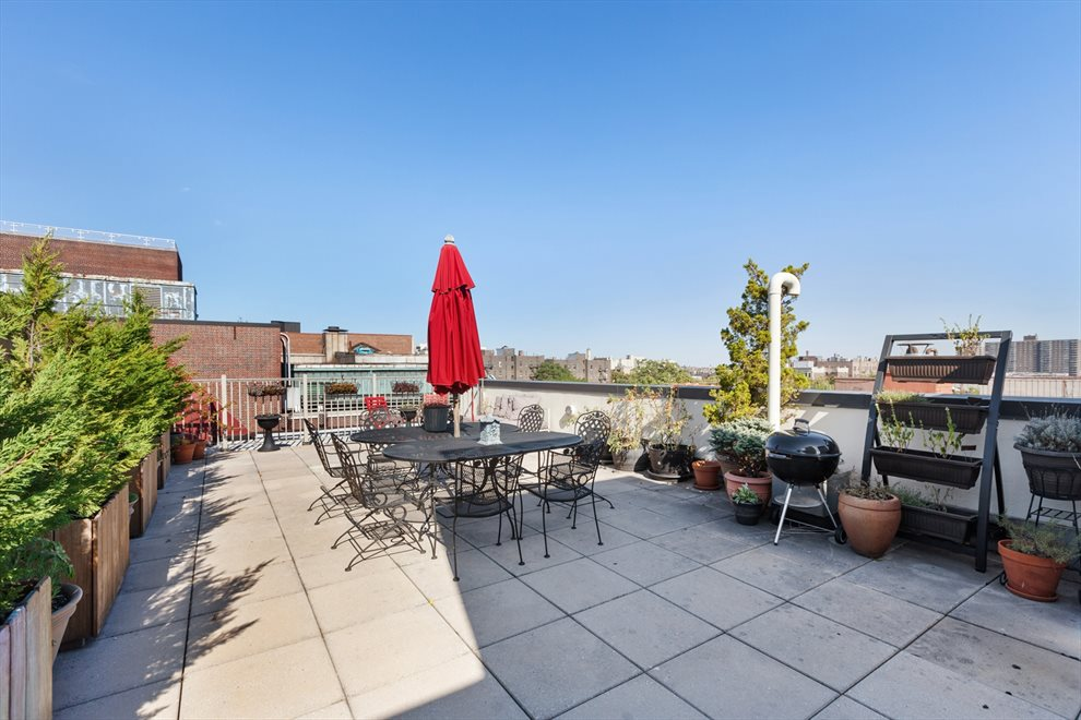Furnished roof deck with grills and landscaping