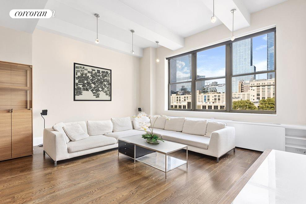 Large Living Area with Views of Hudson Yards