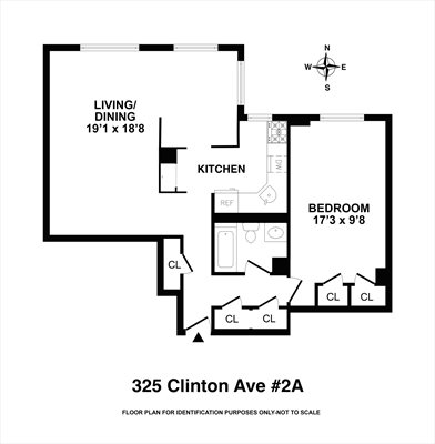 New York City Real Estate | View 325 Clinton Avenue, #2A | Floorplan 1