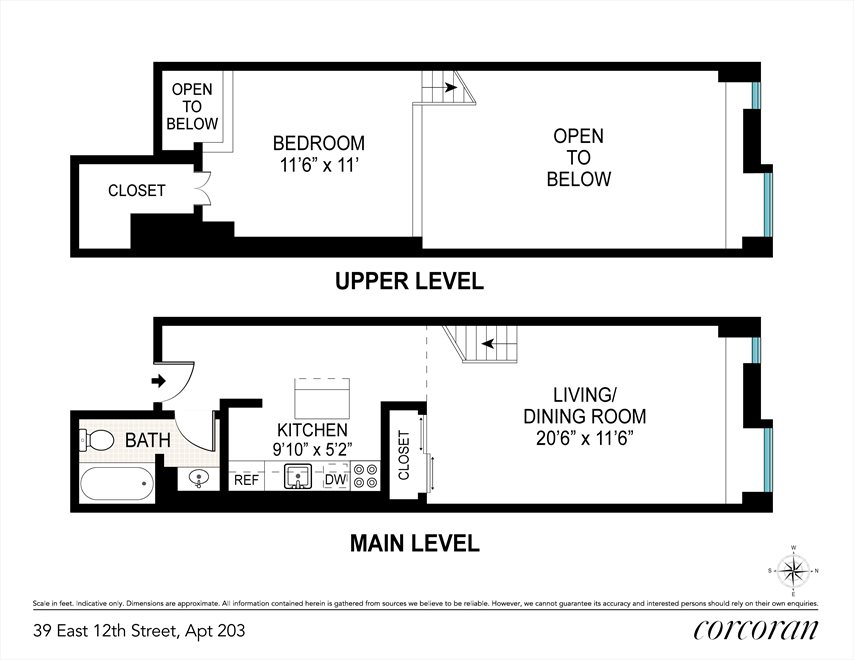 New York City Real Estate | View 39 East 12th Street, #203 | Floorplan