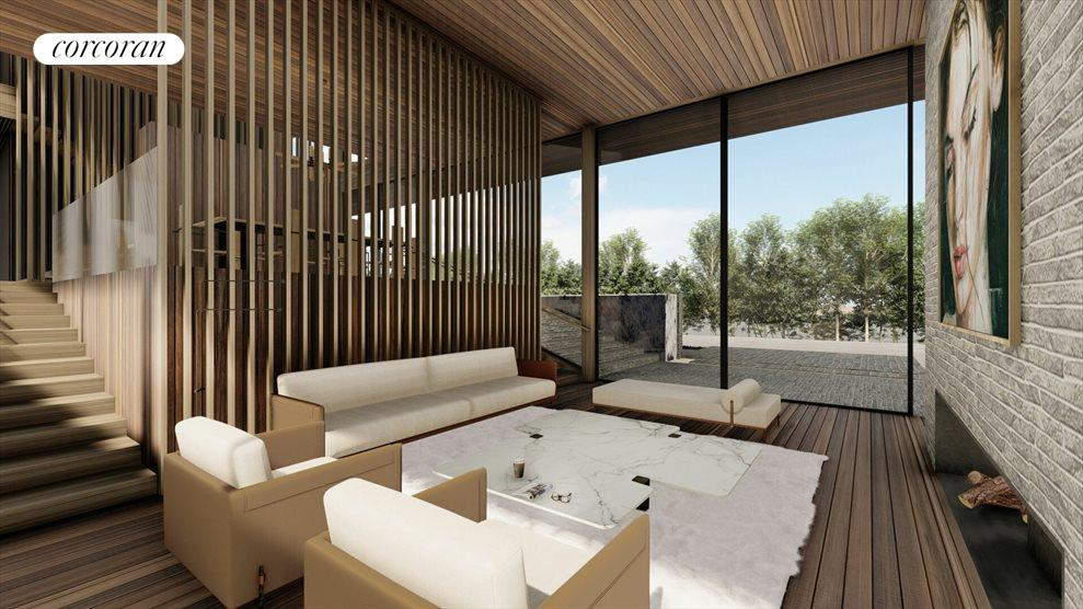 proposed modern home interior rendering